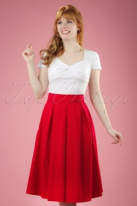 50s Ruth Swing Skirt in Red