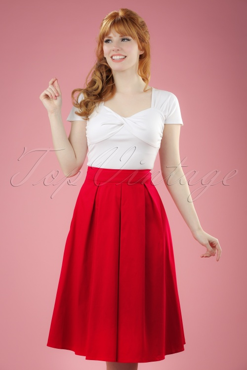 Dolly and Dotty Swing Skirt in Red 122 20 20735 20170404 0008W
