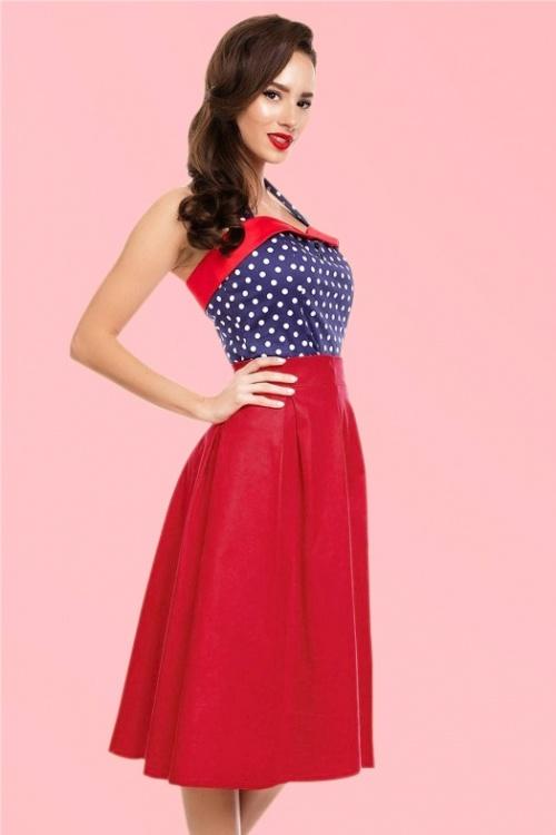 jupe ann es 50 ruth swing skirt en rouge. Black Bedroom Furniture Sets. Home Design Ideas