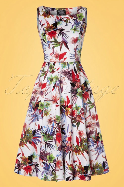 Hearts and Roses Multi Floral Swing Dress 102 57 21735 20170418 0014W