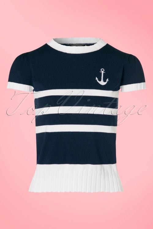 Vixen Parker Navy Sailor Sweather  113 39 20845 20170418 0002W