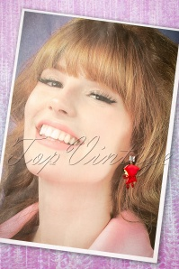 N2 Little Red riding hood Earrings 333 20 21159 04182017 017W