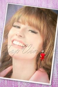 N2 Little Red riding hood Earrings 333 20 21159 04182017 017W