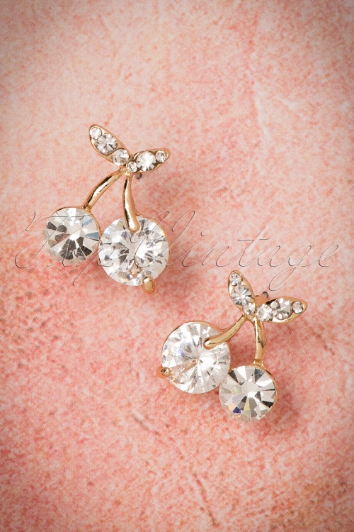 Collectif clothing Diamant Cherry Earrings 332 92 21565 04182017 003W