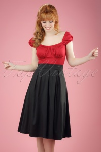 50s Ruth Swing Skirt in Black