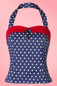 Dolly and Dotty TopVintage Exclusive Polkadot Haltertop 110 39  20736 20170404 0002W