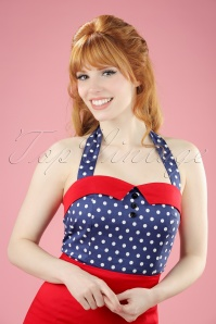 Dolly and Dotty TopVintage Exclusive Polkadot Haltertop 110 39  20736 20170404 1W