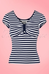 Fever Navy Stripes Top 111 39 21454 20170329 0001W