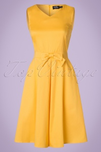 Lindy Bop Aline Yellow Bow Dress 106 80 20732 20170403 0002W