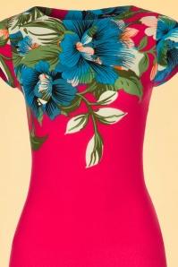 Vintage chic 60s Alhola Hot Pink Dress 100 29 20888 20170418 0001V