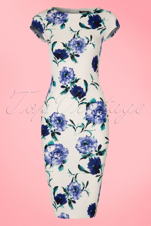 Vintage chic Waterfall Crepe Floral Dress 100 59 21984 20170418 0001W