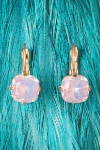 50s Vintage Lucinda Earrings in Pink