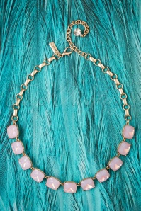 50s Vintage Lucinda Necklace in Pink