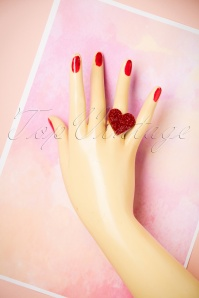 FromNicLove Red Glitter Heart Ring 320 20 21620 04202017 008W