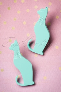 FromNicLove Teal Cat Earrings 330 32 21623 04202017 008W