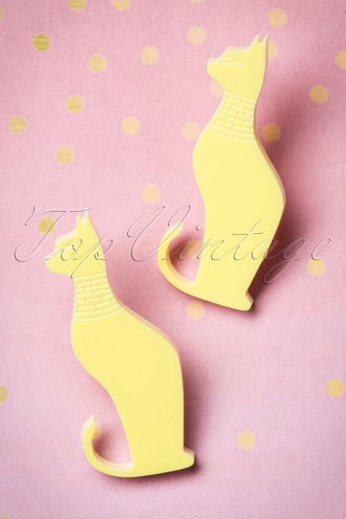 FromNicLove Yellow Cat Earrings 330 80 21621 04202017 004W