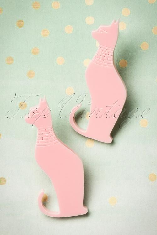 FromNicLove pink Cat Earrings 330 22 21622 04202017 002W