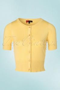 50s Wendi Cardigan in Pastel Yellow