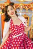 Bunny Red Polkadot Swing Dress 10969 8