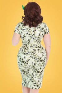 Lady Voloptuous Olive Pencil Dress 100 49 21788 3
