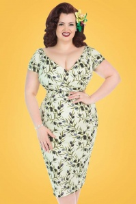 Lady Voloptuous Olive Pencil Dress 100 49 21788 2