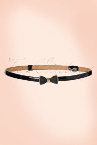 Banned Retro 50s Ocean Avenue Bow Belt in Black