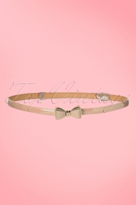 50s Ocean Avenue Bow Belt in Nude