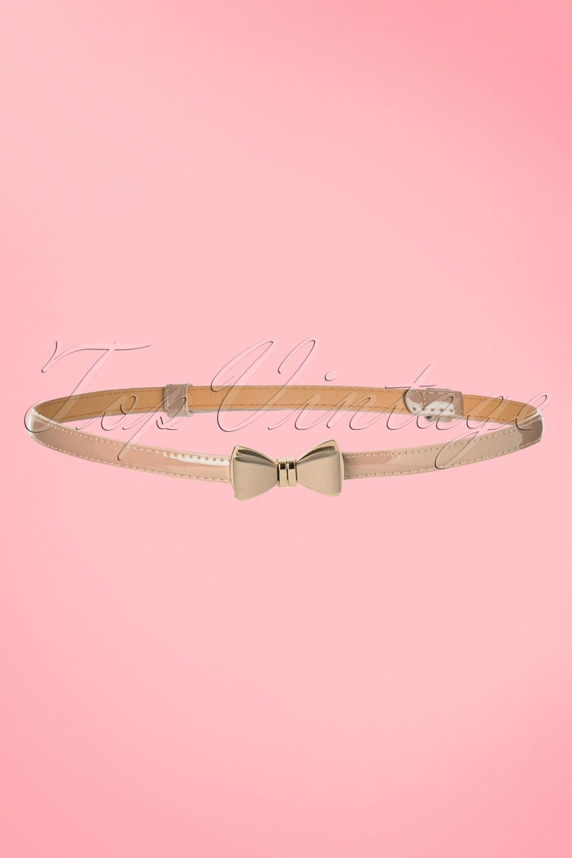 Vintage Wide Belts, Cinch Belts 50s Ocean Avenue Bow Belt in Nude £7.35 AT vintagedancer.com