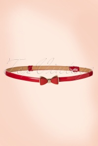50s Ocean Avenue Bow Belt in Red