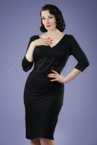 50s Alberta Pencil Dress in Black