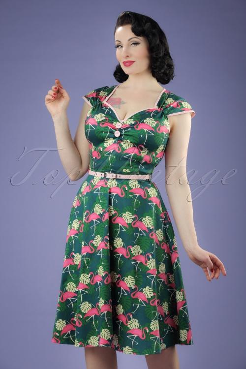Lady V Isabella Flamingo Swing Dress 102 49 21250 20170331 0014W