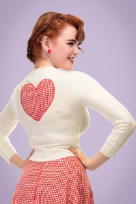 Collectif Clothing Jessie Gingham Cardigan in Red 20645 20161129 1