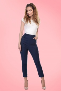 Collectif Clothing Talis Plain Cigarette Trousers 20762 20161201 01