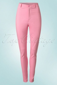 50s Maddie Trousers in Bubblegum Pink