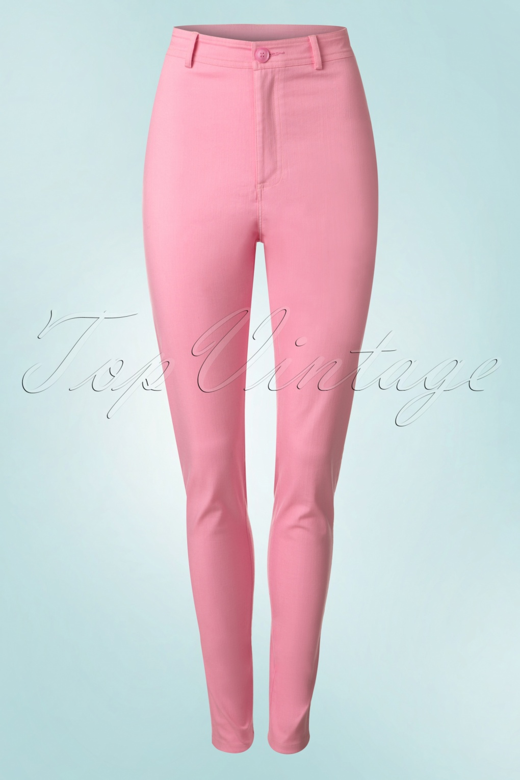 1950s Style Pants | Pinup Capri | High Waist Jeans 50s Maddie Trousers in Bubblegum Pink £39.47 AT vintagedancer.com