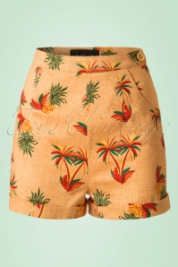 Collectif Clothing Ayana Pineapple and Palmtrees Shorts 20711 20161130 0004W