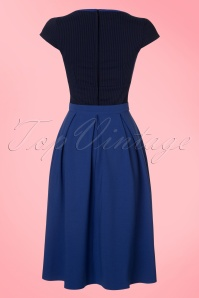 Miss Candyfloss TopVintage Exclusive Kobalt Blue Dress 102 30 20606 20170424 0009W