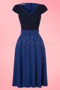 Miss Candyfloss TopVintage Exclusive Kobalt Blue Dress 102 30 20606 20170424 0003W