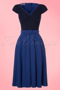 Miss Candyfloss TopVintage Exclusive Kobalt Blue Dress 102 30 20606 20170424 0003W
