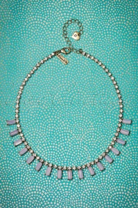 50s Rosewater Stone Necklace