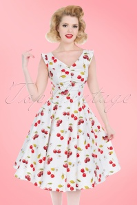 Hearts and Roses White Cherry Swing Dress 102 59 21729 20170424 01W