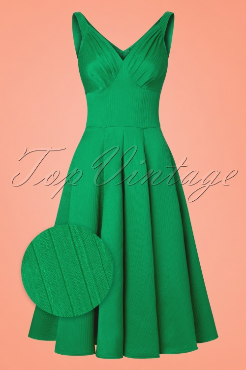 Miss Candyfloss TopVintage Exclusive Green Waffle Dress 102 40 20614 20170424 0004wv