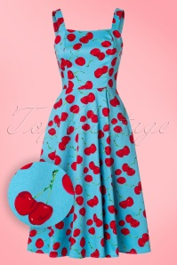 Hearts and Roses Blue Cherry Swing Dress 102 39 21738 20170425 0011W1