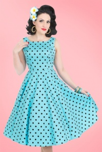 Hearts & Roses Blue Polkadots Swing Dress 102 39 21732 20170424 01