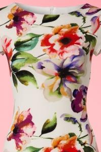 Vintage Chic Pique Fabric Floral Print Pencil Dress 100 57 21335 20170425 0001V