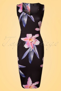Vintage Chic Marcella Sweetheart Floral Pencil Dress 100 14 22069 20170425 0002W