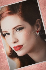 From Paris with Love! Sweet Red Roses Earrings 331 20 21544 20170426 0017w