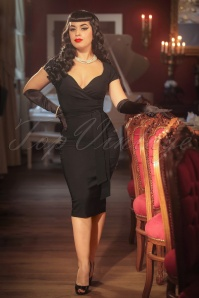Vintage Diva The Oh So Curvy Dress in Black 20879 20170126 0012cw