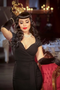 Vintage Diva The Oh So Curvy Dress in Black 20879 20170126 0010cw