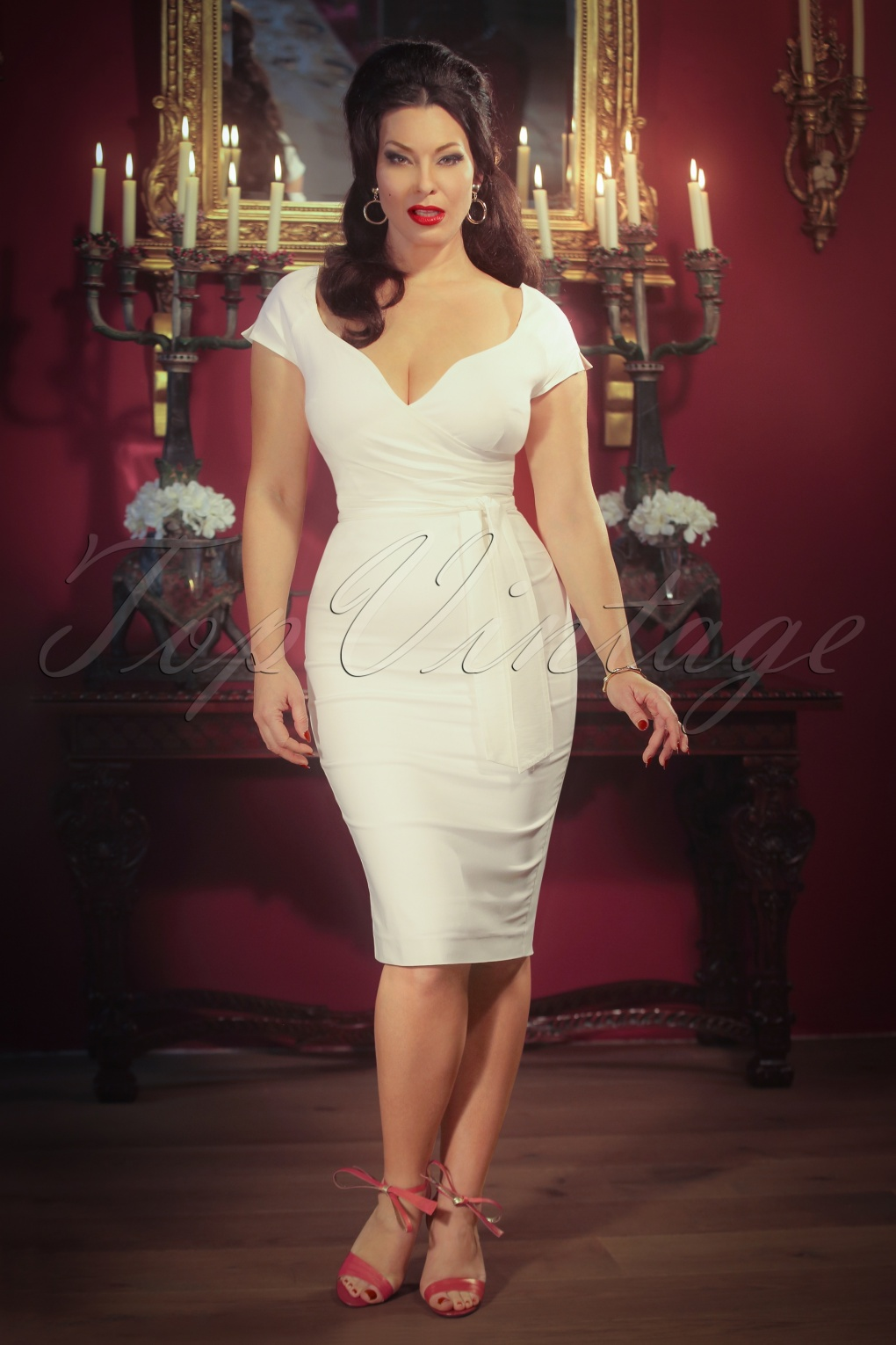 The Bombshell Pencil Dress In Cream